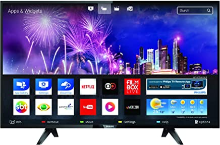 "Smart TV HD LED 43"" com Conversor Digital, Philips 43PFG5102/78, Preto"