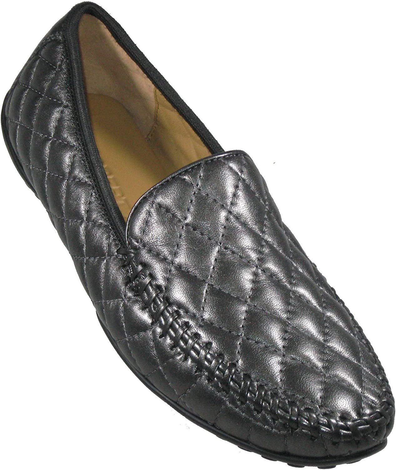 Robert Zur Women's 'Quana' Gunmetal Quilted Leather Moccasin