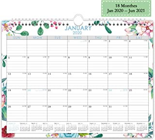 Wall Calendar Day Designer 2020-2021,Monthly and Yearly Running with Twin Wire Binding,15