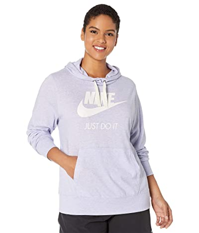 Nike Plus Size Sportswear Gym Vintage Hoodie HBR (Lavender Mist/Sail) Women