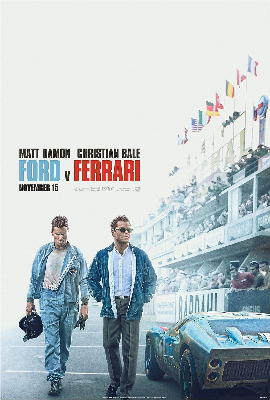 Amazon.com: Ford v Ferrari Movie Poster Print Photo Wall Art Christian Bale  Matt Damon Size 11x17#1 : Home & Kitchen