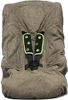 Looping chocolate-Brown Terrycloth cubierta del coche-asiento de bebé - Adecuado para el Grupo 1, 2 y 3 Asientos de coches