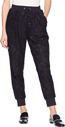 Soft Woven Hibiscus Lace Pants