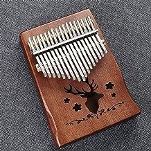 MAODOXIANG Thumb Pianos Kalimba 17 Key Mahogany Body Thumb Piano 17 Llaves Mbira Musical Instrument Best Quality (Color : ...