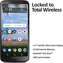 Total Wireless Motorola Moto G6 4G LTE Prepaid Smartphone (Locked) - Black - 16GB - Sim Card Included - CDMA