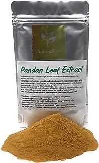 Pandan Leaf Powder - Ingredients: 100% Powdered Pandan Leaves (Pandanus Amaryllifolius) - Pandan Leaf Extract - Organic, Kosher, Halal, Water-soluble - Net Weight: 2.11oz / 60g