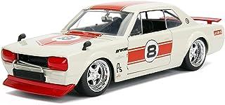 1971 Nissan Skyline GT-R #8 Red/Cream (KPGC10) JDM Tuners 1/24 Diecast Model Car by Jada 30003