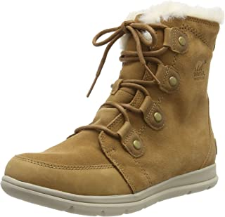 Sorel Womens Explorer Joan Snow Boot, Camel Brown/Ancient Fossil (5 M UK)