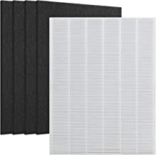 DerBlue 1 True HEPA Filter & 4 Carbon Replacement Filters A 115115 Size 21 for Winix PlasmaWave Air Purifier 5300 6300 5300-2 6300-2 P300 C535