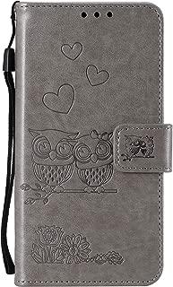 Lomogo LG K11/K10 2018/K30/Premier Pro/Harmony 2/Phoenix Plus/Xpression Plus Case Leather Wallet Case with Kickstand Card Holder Shockproof Flip Case Cover for LG K30 - LOHHA100663 Grey