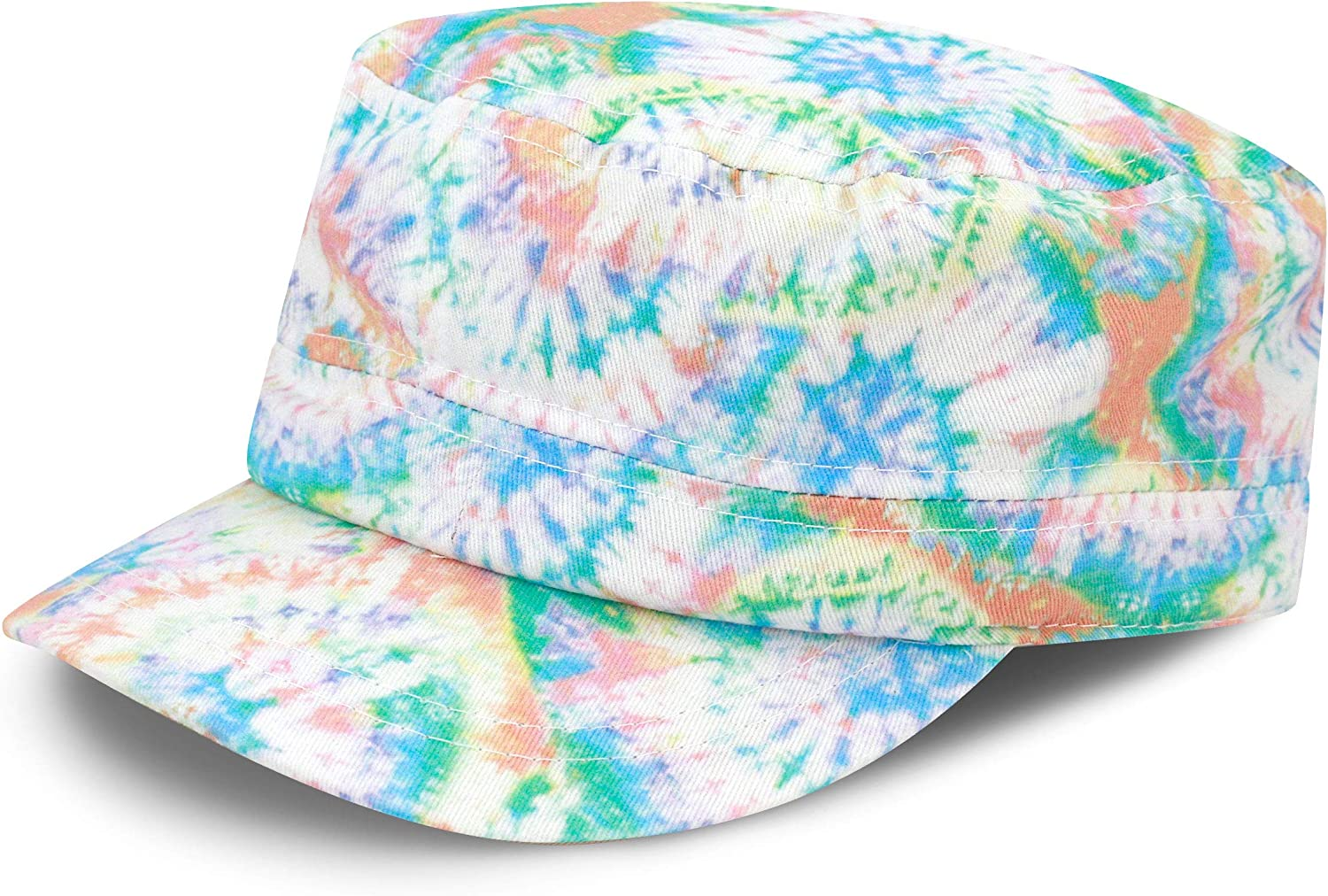The Hat Recommended Depot Tie Dye Washed Distressed Basic Max 79% OFF Cotton C Cadet