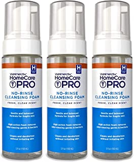 Welmedix No-Rinse 3 in 1 Cleansing Foam, Body Wash, Shampoo and Personal Cleanser for Elderly, Incontinence and Infant Care, Hospital Grade, Sulfate Free, Paraben Free (3 Pack)