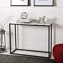 Safavieh FOX6024A Home Collection Baize White and Grey Console Table
