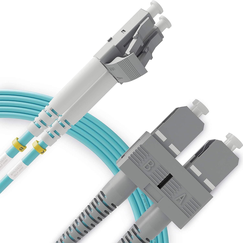 LC to SC Fiber Patch Cable Multimode Duplex - 2m (6.56ft) - 50/125um OM3 10G LSZH - Beyondtech PureOptics Cable Series