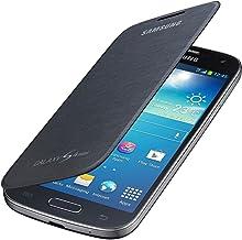 Samsung Flip - Funda para móvil Galaxy S4 mini (permite hablar con la tapa cerrada, sustituye a la tapa trasera), negro