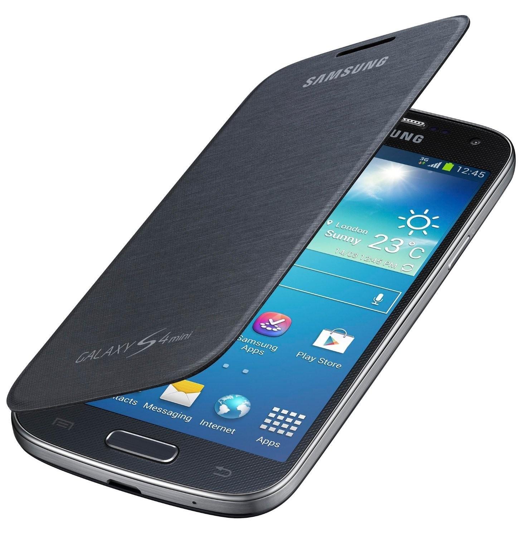 Samsung Flip - Funda para móvil Galaxy S4 mini (permite hablar con la tapa cerrada, sustituye a la tapa trasera), negro: Amazon.es: Electrónica