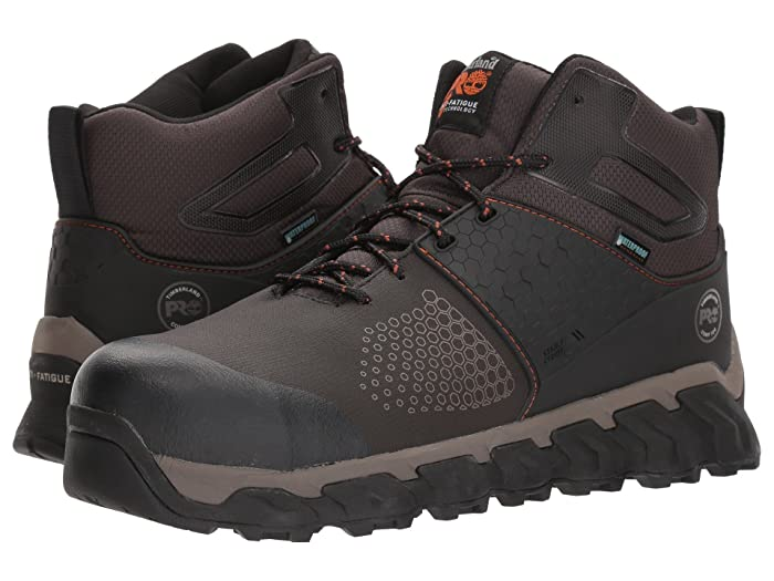 Timberland PRO  Ridgework Composite Safety Toe Waterproof Mid (Brown) Mens Work Lace-up Boots