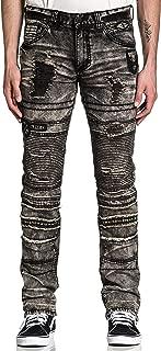Gage Fallen Matador Skinny Fit Motorcycle Biker Denim Jeans Pants for Men