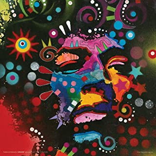 Culturenik Dean Russo Jimi Hendrix Guitar Man Psychedelic Modern Music Art Decorative Poster Print 12x12