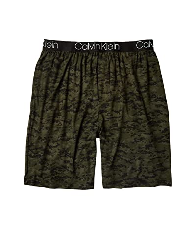 Calvin Klein Underwear Ultra Soft Modal Sleep Shorts (Green Camo Print) Men