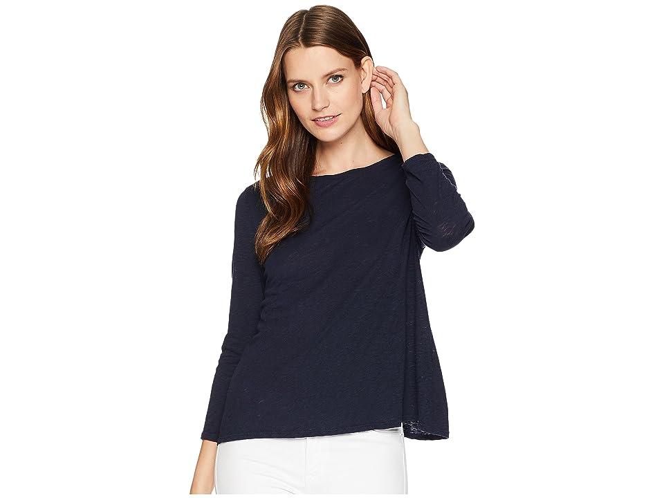 Three Dots Eco Knit 3/4 Sleeve Top (Night Iris) Women