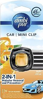 Ambi Pur Mini Clip Car Air Freshener, Light Citrus, 2ml