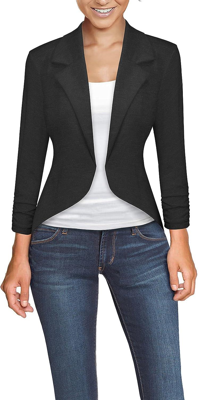 Hybrid & Company Womens Casual Work Office High Low Blazer Jacket
