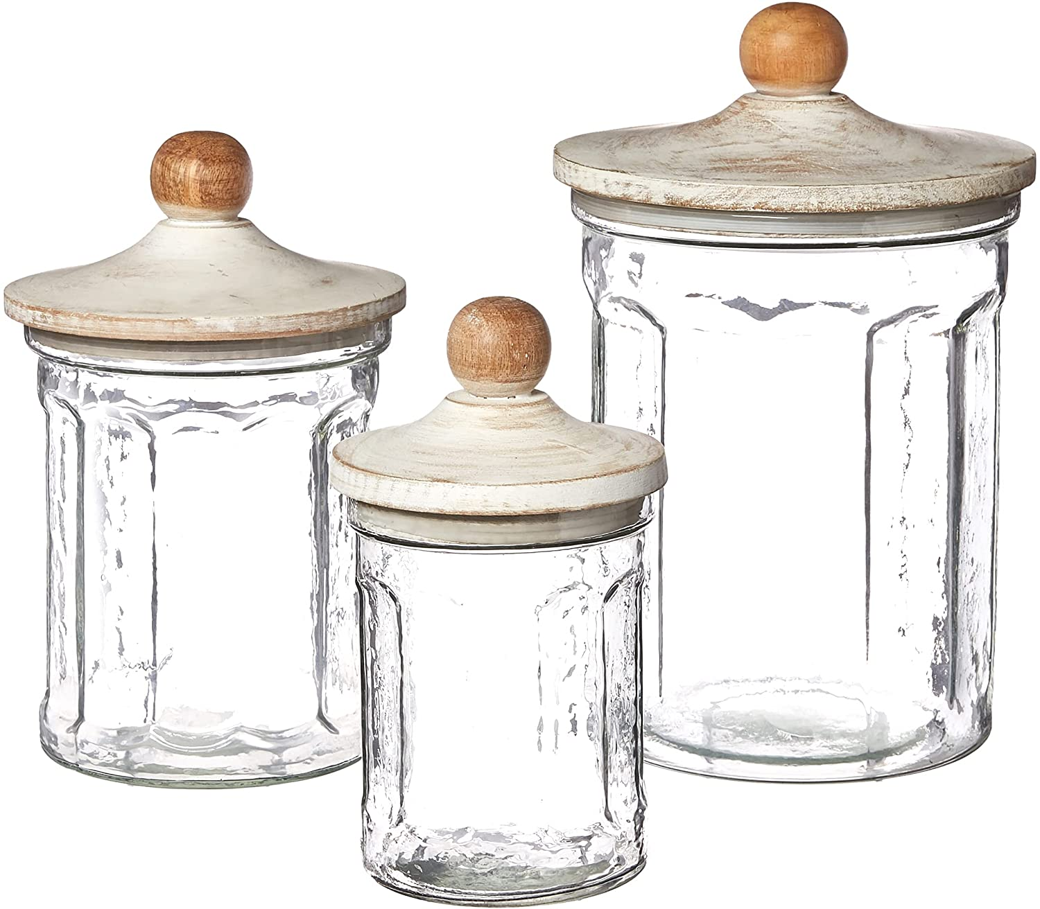 Mud Pie Glass Canister Set small 7 Product 1 2 Now on sale dia medium x 2