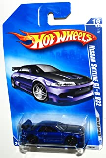 Hot Wheels 2009-156 Dream Garage BLUE 2001 Nissan Skyline GT-R R32 1:64 Scale