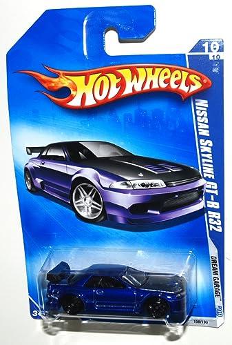 Hot Wheels 2009 156 eam Garage Blau 2001 ssan Skyline GT-R R32  64 ale