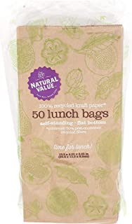NATURAL VALUE Paper Lunch Bags, 50 CT
