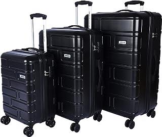 اميريكان توريستر حقائب سفر بعجلات 3 قطع ، اسود