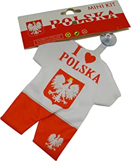 Poland Polska FIFA World Cup Mini Jersey Kit With Suction Cap For Car Window .. New