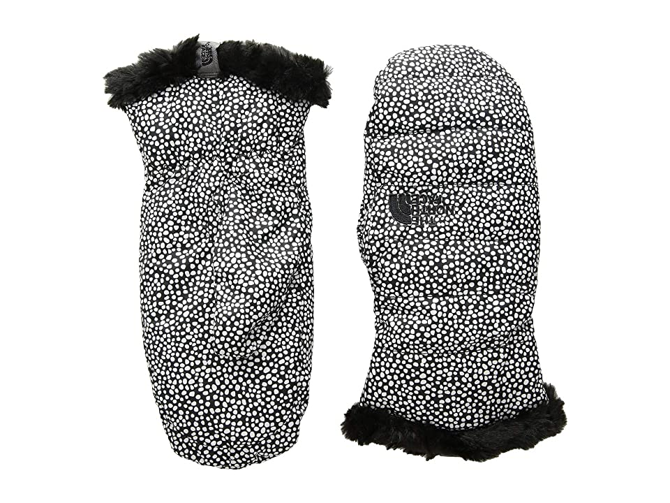 The North Face Kids Reversible Mossbud Swirl Mitt (Big Kids) (TNF White Mini Dot Print/TNF Black) Extreme Cold Weather Gloves