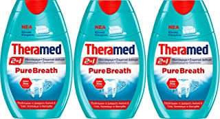 Theramed 2 in 1 Pure Breath Toothpast + Mouthwash 75ml ( Pack of 3)