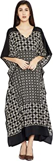 Goood Times Burgundy Paisley Long Kaftan Kimono Maxi Dress Plus Size Caftan Gown Nightdress for Women