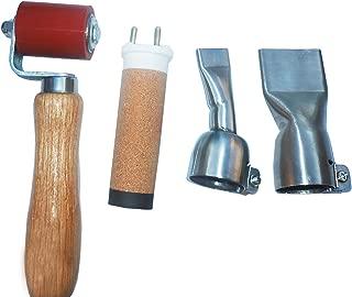 40mm pressure roller+20mm flat welding nozzles+40mm flat nozzle+1600w heater element for hot air welder gun