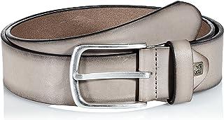 LINDENMANN The Art of Belt Mens leather belt/Mens belt, full grain leather belt with effect, unisex, taupe