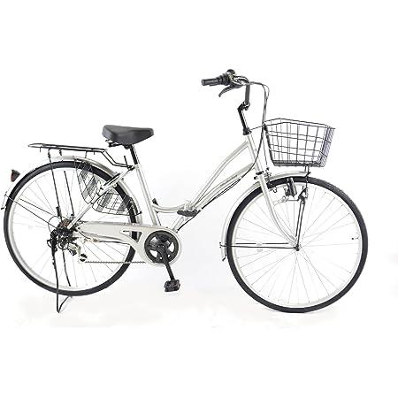 21Technology 折りたたみママチャリ (26インチ) 自転車 シティサイクル ママチャリ 折畳 6段ギヤ付き 街乗り 通勤 通学 MC266