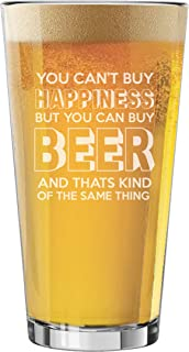 My Personal Memories Funny Pint Glasses for Men - Fun Beer Lovers Gifts for Dad, Fathers Day, Him, Her, Birthdays (Happiness Style)