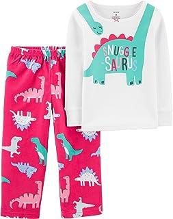 Girls' 2-Piece Fleece Pajamas Top and Pants Set