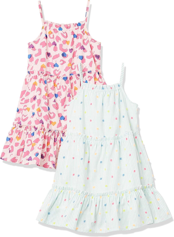 Spotted Zebra Intrecciato Senza Maniche A Livelli Abiti Special-Occasion-Dresses Bambina