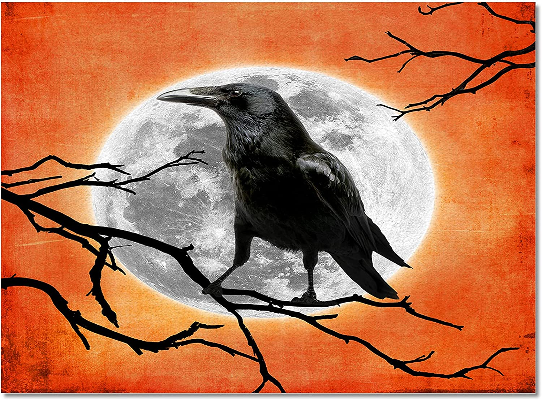 Meet 1998 Halloween Crow Large special price Full Moon Ranking TOP16 Ru Area Durable Branch Indoor