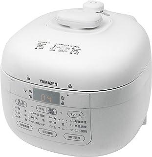 [山善] 電気圧力鍋 2.2L 2WAY仕様 調理モード6種類 (圧力 / 炊飯 / 発酵 / 無水 / 鍋 / スロー調理) 予約・保温機能 60種レシピブック付き ホワイト YPCB-M220(W) [メーカー保証1年]