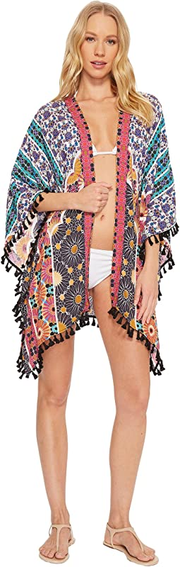 Trina Turk Golden Medallion Kimono Cover-Up