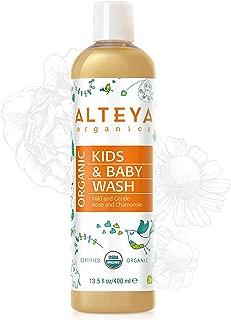 Alteya Organics USDA Organic Baby Wash - LARGE, 14fl oz/400ml, Award-Winning, With Organic Calendula, Chamomile and Bulgarian Rose Otto