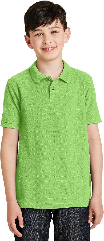 Port Authority Big Boys' Silk Touch Polo T-Shirt