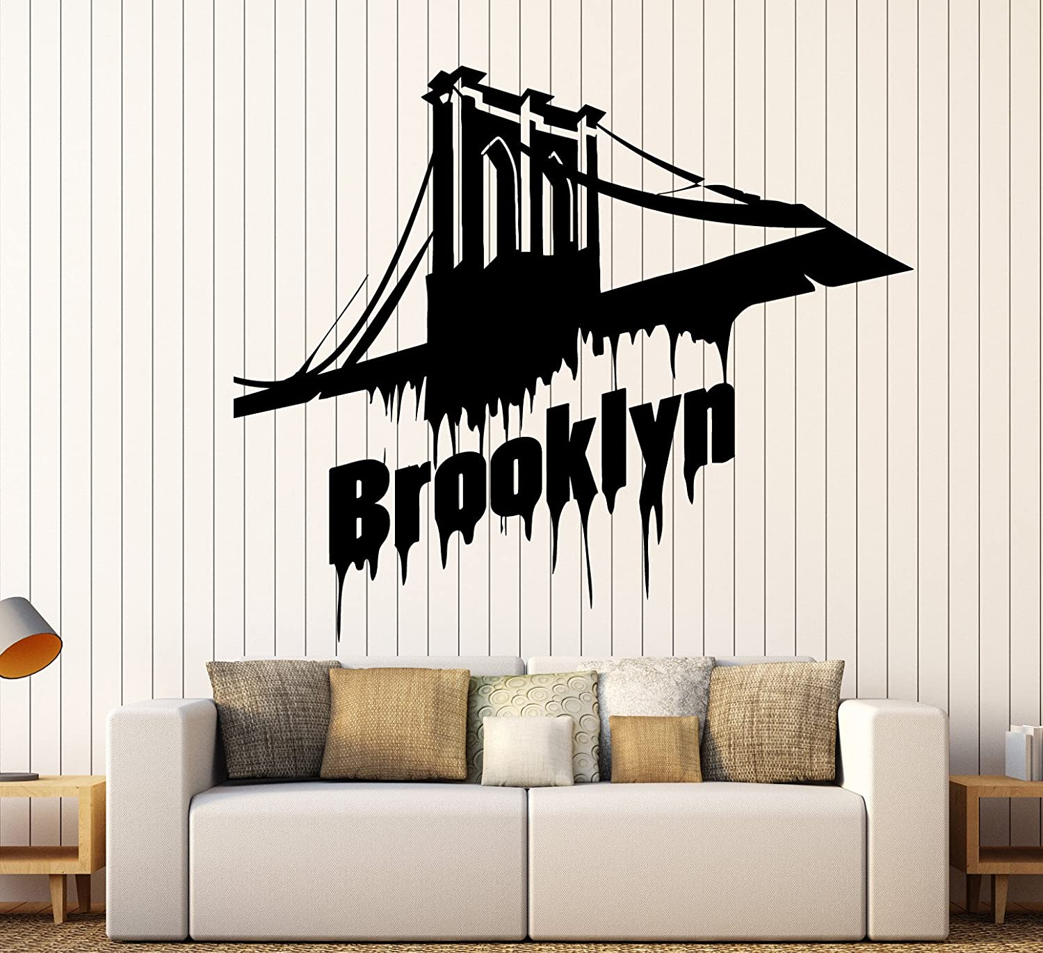 Manufacturer regenerated product Vinyl Wall Decal Brooklyn Bridge New York Large Stickers Mural D 70% OFF Outlet