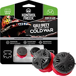 KontrolFreek Call of Duty: Black Ops Cold War Performance Thumbsticks for Xbox One, Xbox Series X Controller   2高層、凸  黒/赤