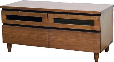 【テレビボード】 ウォルナット天然木 テレビ台 幅105cm ダークブラウン LS-531DB